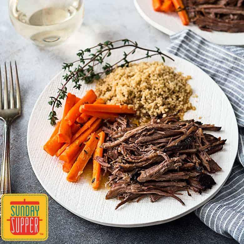 Easy Slow Cooker Roast Beef Recipe #SundaySupper