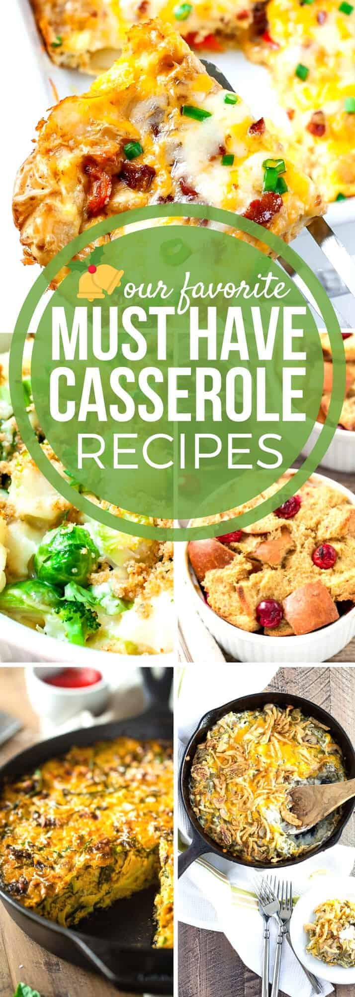 Keep the holiday stress away with our favorite Holiday Casserole Recipes. These recipes will help you easily feed your holiday crowd deliciously! From breakfast to your favorite side dish casserole recipes, Thanksgiving, Christmas, Easter, or any special occasion is easier to manage when you are prepared with these easy casserole recipes! #SundaySupper #HolidayRecipes #CasseroleRecipes #EasyRecipes