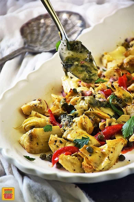Ina Garten's Roasted Artichoke Salad