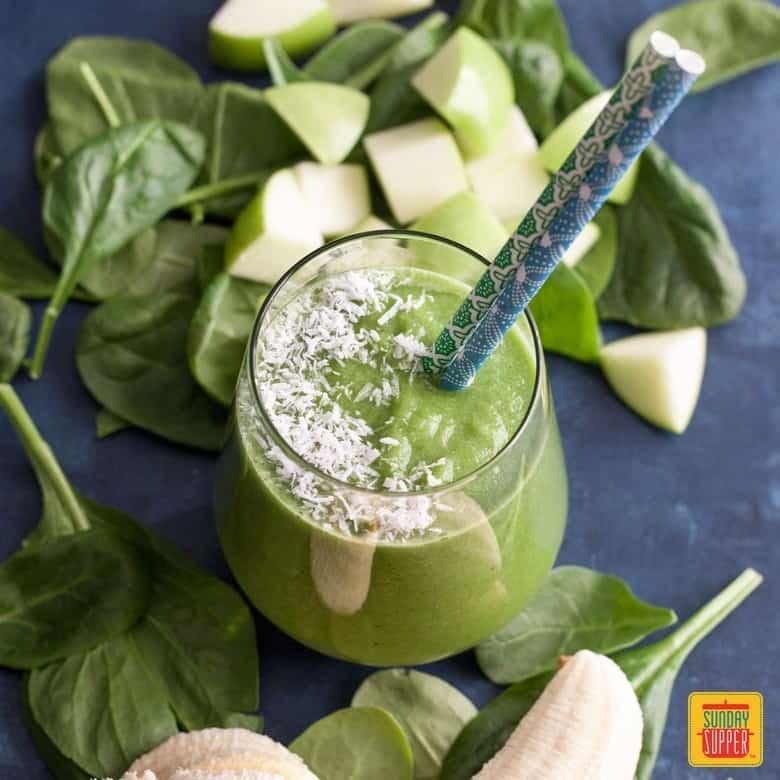 Green Apple Smoothie breakfast drink