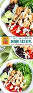 Mexcian Rice Bowl with Shrimp on Pinterest