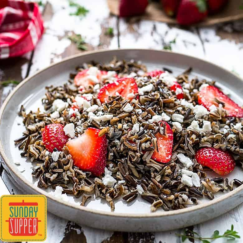 Wild Rice Salad with Strawberries #SundaySupper