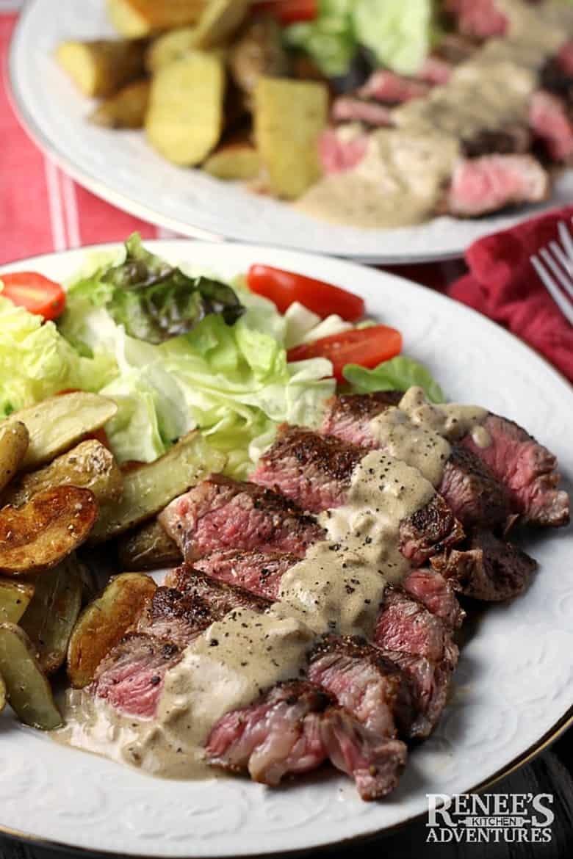Steak au Poivre with Fingerling Potatoes