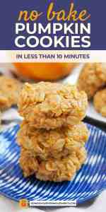 Save No Bake Pumpkin Cookies on Pinterest for later!