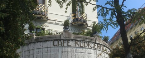 Cafe Rüdigerhof--just one of the cool Vienna cafes where we meet!