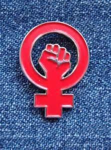 Rött feministtecken