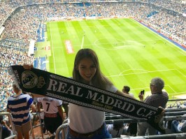 Real Madrid game at the Estadio Santiago Bernabeu