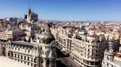 Gran Via. Madrid, Spain