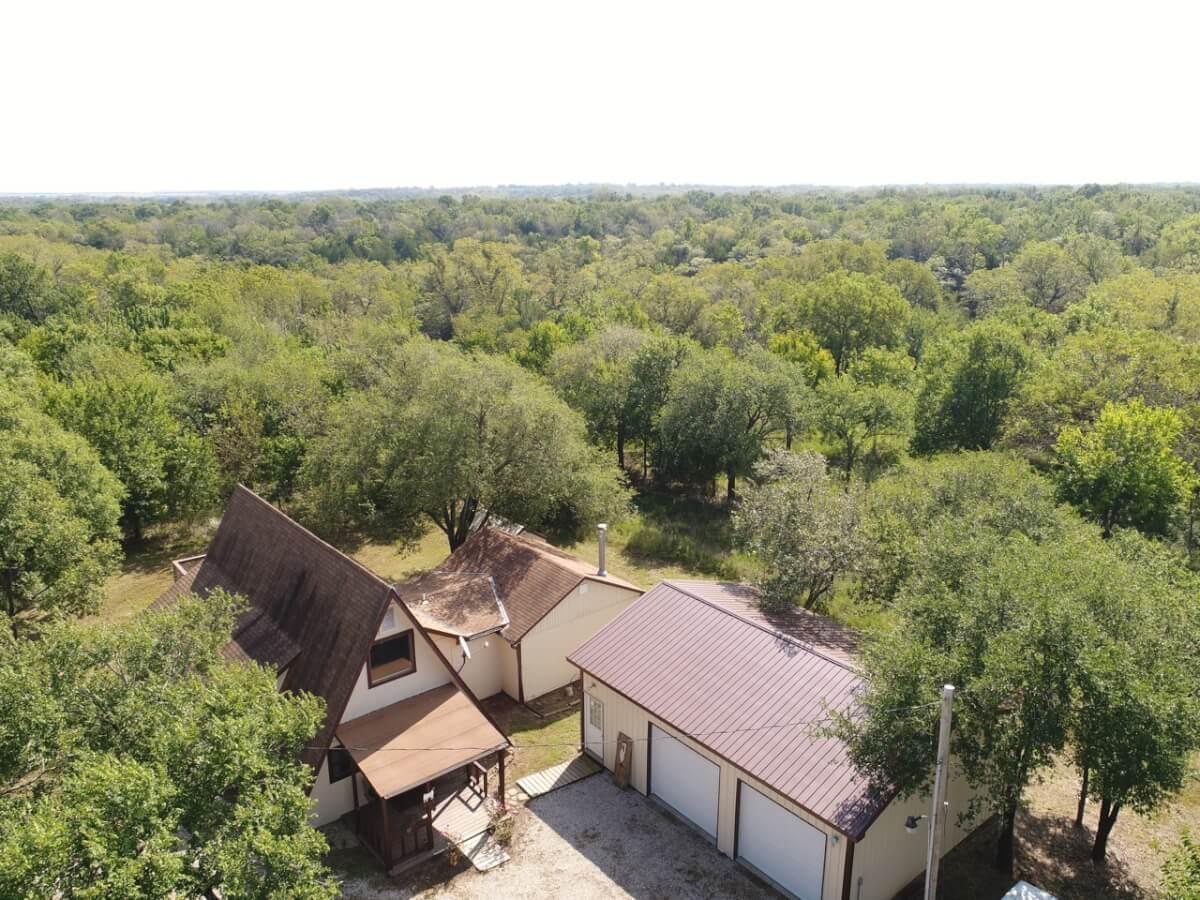 A-Frame Hunting Cabin & Land-Greenwood County Kansas