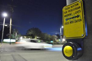 Cars fly by the intersection of Reseda Boulevard and Nordhoff street, one of the ost dangerous local intersections for pedestrians. Photo Credit: Jonathan Pobre / Exectutive Editor