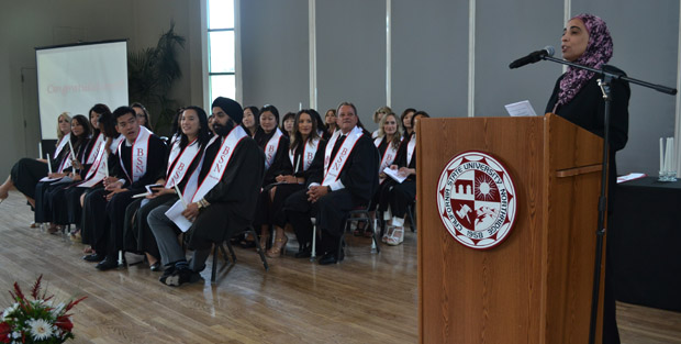 The College of Health and Human Development saw hundreds of it's students graduate on Tuesday.  Dr. Samira Moughrabi, nursing faculty, gave the opening speech at a pinning ceremony for students who earned a bachelor's of science in nursing.