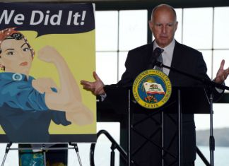 Gobernor Jerry Brown at Rosie the Riveter National Monument