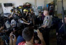 County Sheriff talks to media.
