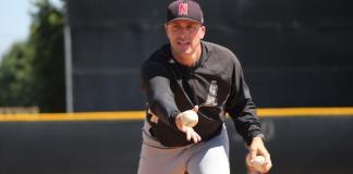 CSUN baseball head coach demonstrates pitching techniques