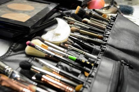 Makeup brushes pictured