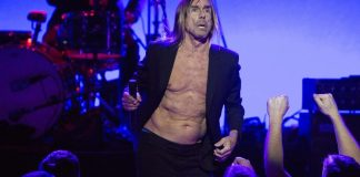 Iggy Pop shown singing in Los Angeles