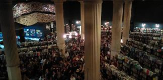 People crowd the Last Bookstore for Harry Potter night