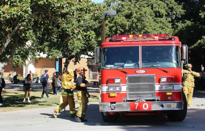 Firefighters pictured at CSUN