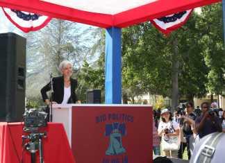 Jill stein prepares to give speech at CSUN
