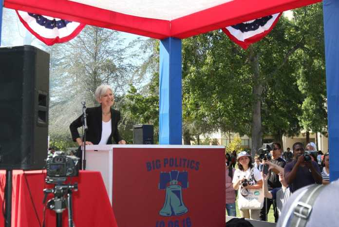 Jill stein prepares to give speech at CSUN