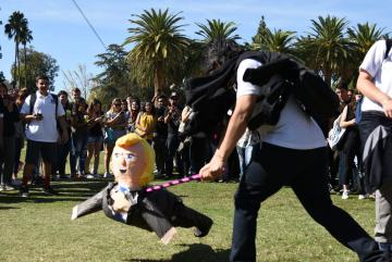 Students beat up Donald Trump pinata