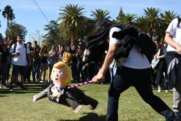 Students beat up Donald Trump pinata