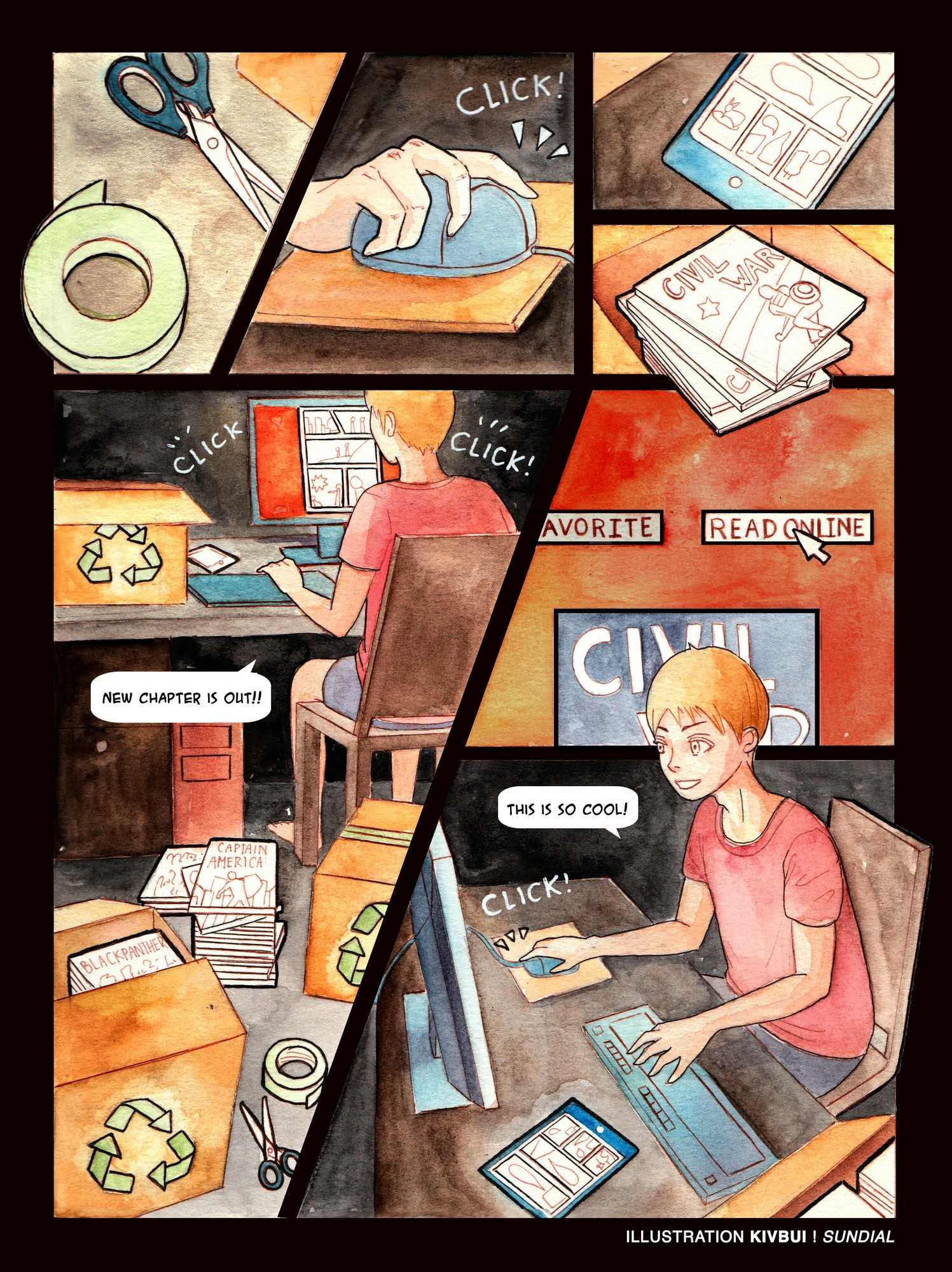 Color printing csun - Print Comics The Sundial