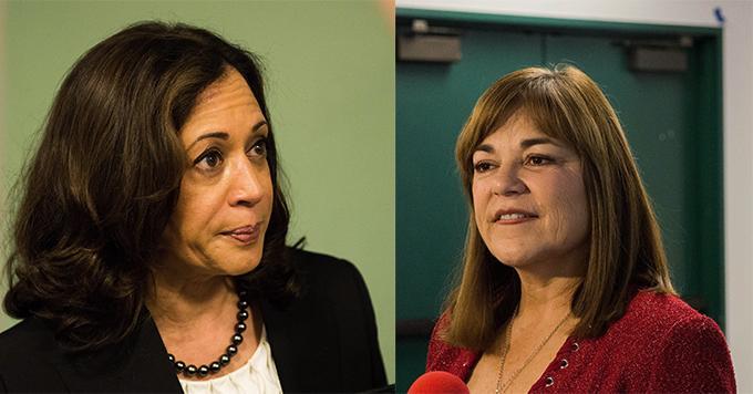 Photo shows Kamala Harris and Loretta Sanchez