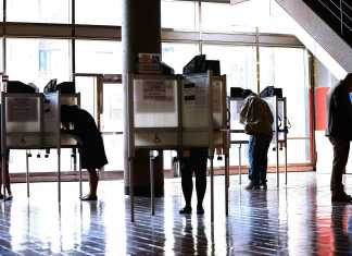 People shown voting