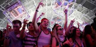 Crowd cheers for performers at Coachella