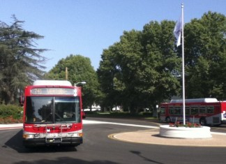 Bus pictured in the CSUN transit center