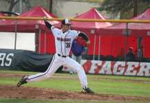 CSUN pitcher pitches the ball