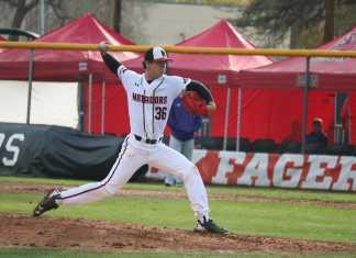 CSUN pitcher pitches the ball