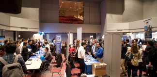 Many students participate and engage in the many booths and activities at tech fest