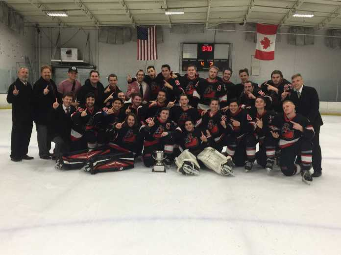 the matador hockey team poses for a group photo on the ice