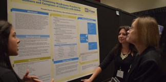 """women discuss project on """"mindfulness for mothers and caregivers of children with autism"""""""