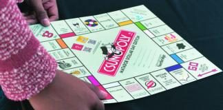 CSUNopoly board pictured
