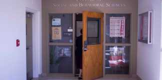 photo shows the outside of the college of social and behavioral science