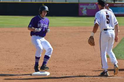 holy cross player reaches third base