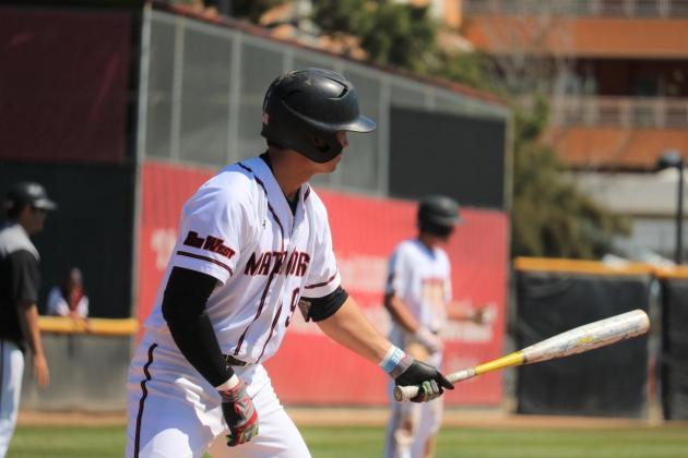 csun baseball player gets ready to bat