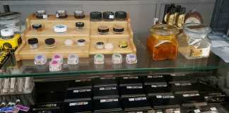 A wide variety of medical marijuanna products pictured