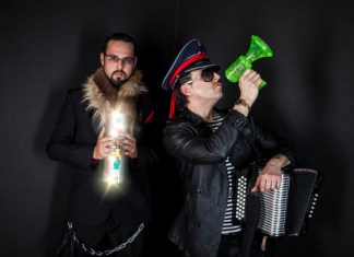 Marcelo Tijerina and Ulises Lozano pictured posing for their album cover