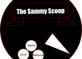 "graphic says, ""the sammy scoop"""