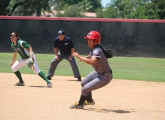 CSUN womens softball player running in the infield