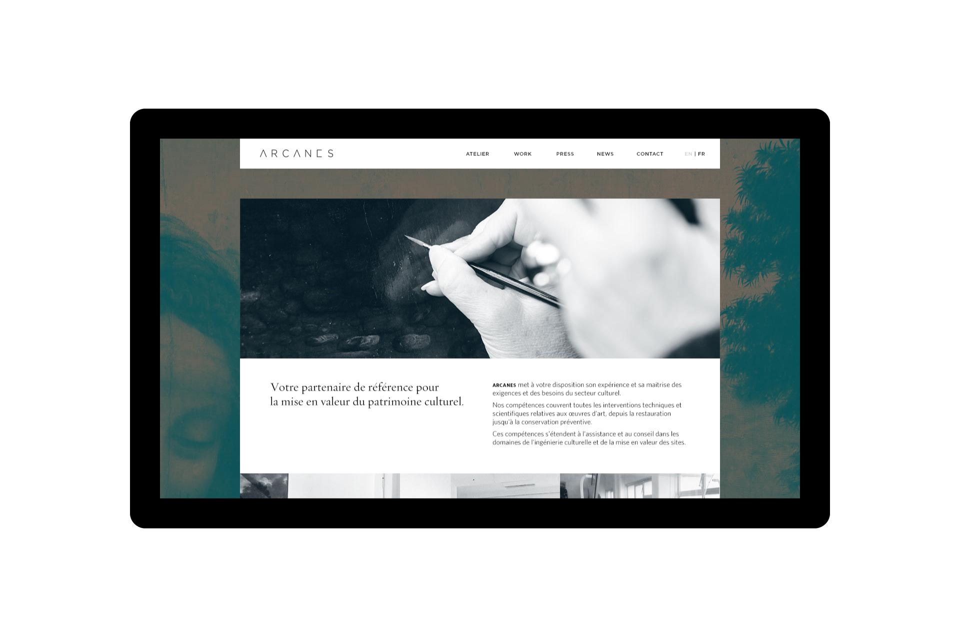 Arcanes Website