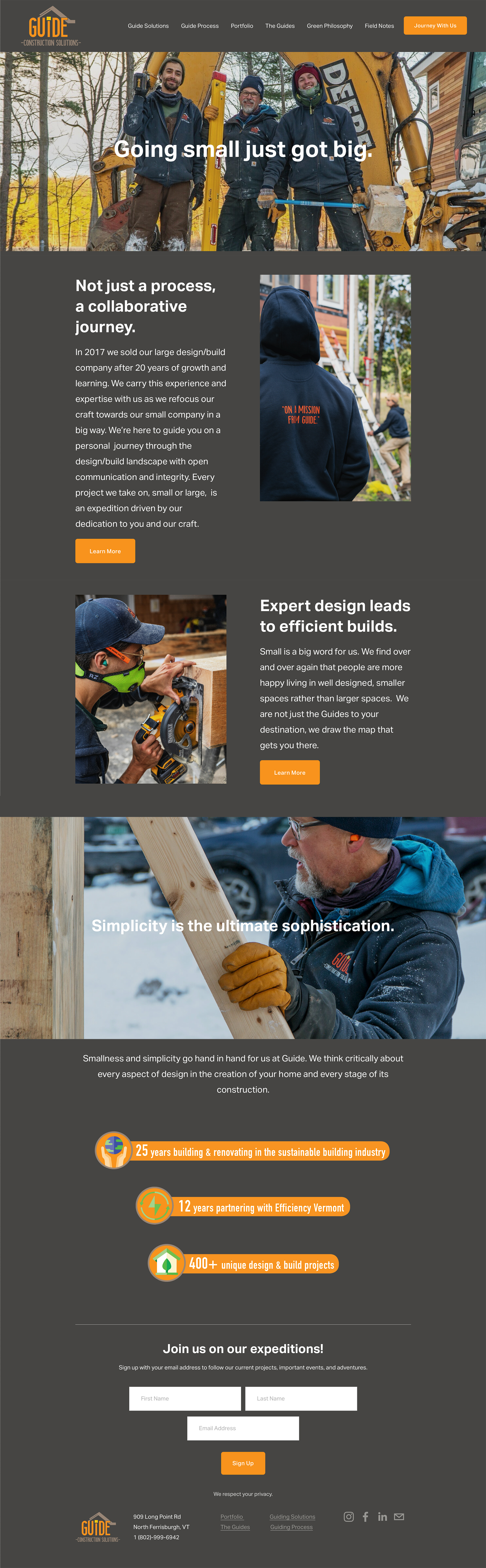 guide construction solutions website design by sundog creations