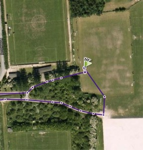 Ulandsløbet 2012 rute