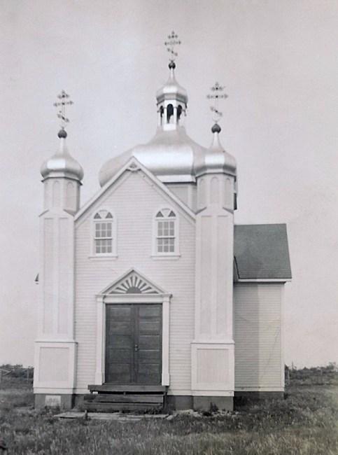 Sundown Ukrainian Orthodox Church - West view (1940s)