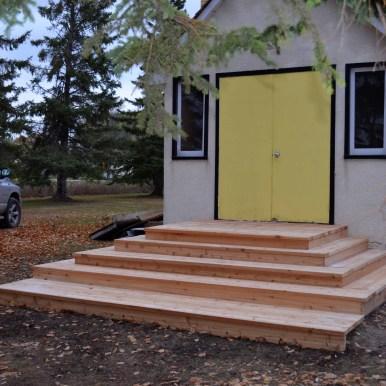 Rebuilt cedar steps (20-Oct-2013)