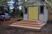 Rebuilt cedar steps (20-Oct-2013)